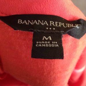 Banana Republic Tops - Banana republic orange zip up tank